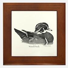 Wood Duck Framed Tile