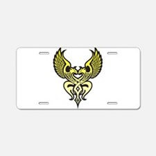 Twin Tribal Eagles Aluminum License Plate