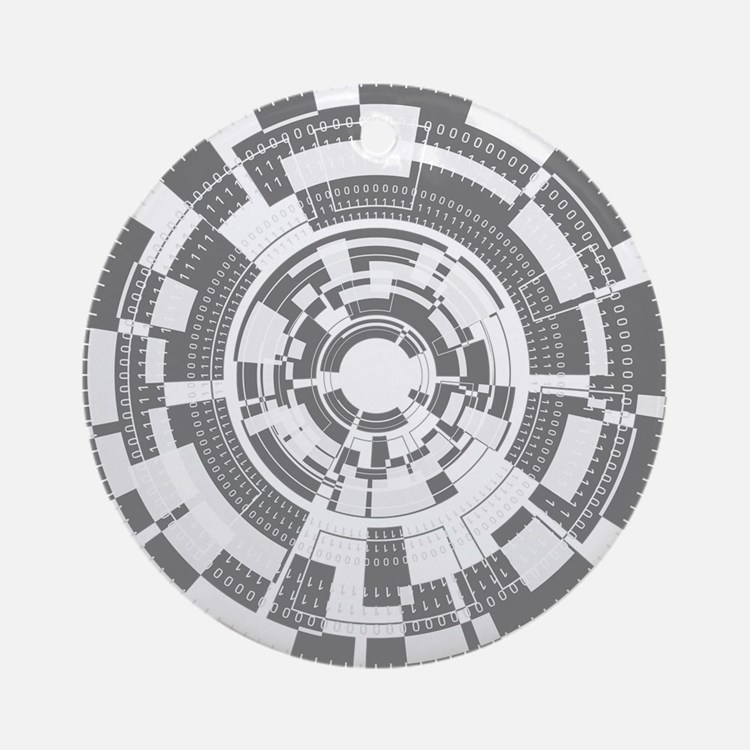 Bits and Bytes Ornament (Round)