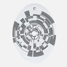 Bits and Bytes Ornament (Oval)