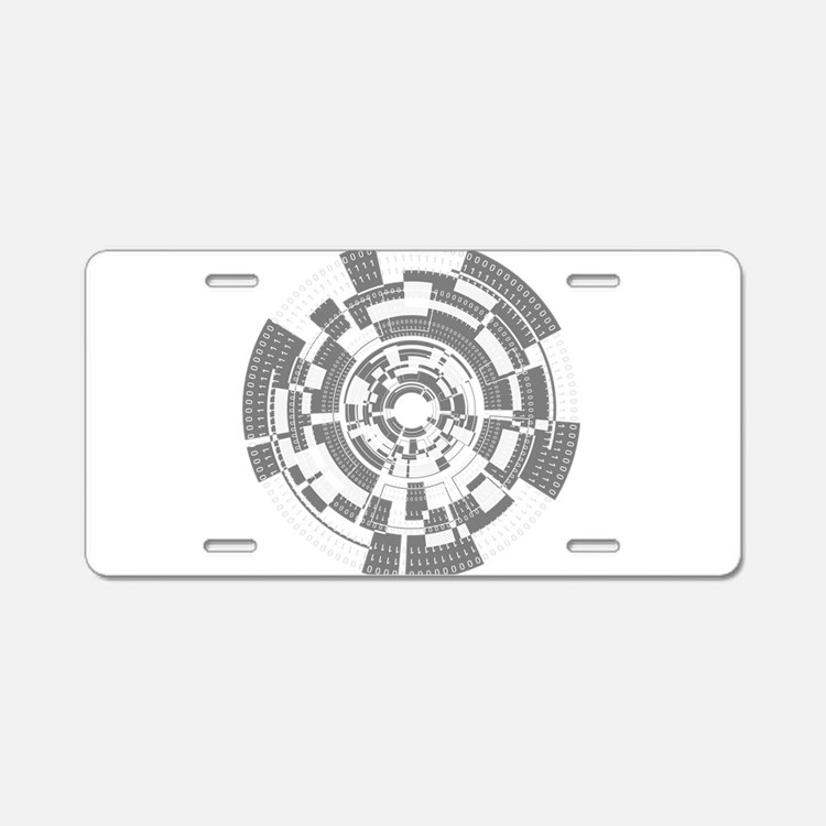 Bits and Bytes Aluminum License Plate