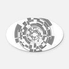 Bits and Bytes Oval Car Magnet