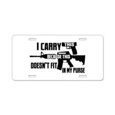 Carry This In My Purse Aluminum License Plate