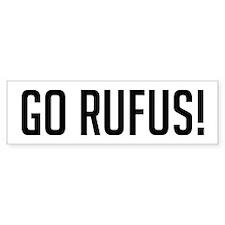 Go Rufus Bumper Bumper Sticker