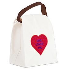 Ann Loves Me Canvas Lunch Bag