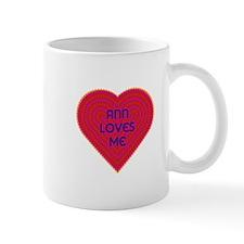 Ann Loves Me Small Mugs
