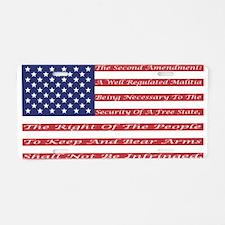 2nd Amendment Flag Aluminum License Plate