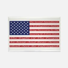 2nd Amendment Flag Rectangle Magnet