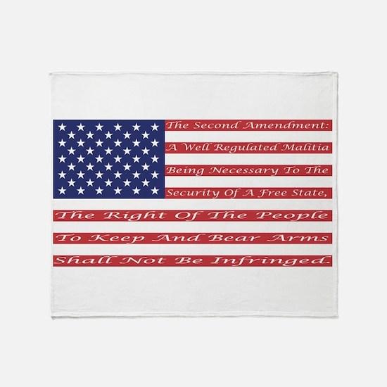 2nd Amendment Flag Throw Blanket