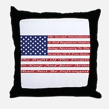 2nd Amendment Flag Throw Pillow