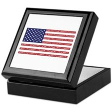 2nd Amendment Flag Keepsake Box