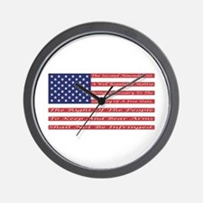 2nd Amendment Flag Wall Clock