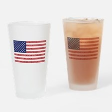 2nd Amendment Flag Drinking Glass