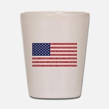2nd Amendment Flag Shot Glass
