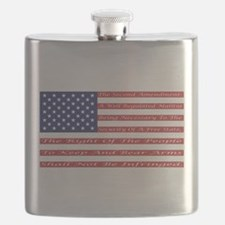 2nd Amendment Flag Flask