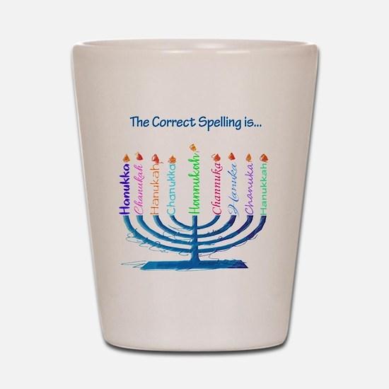 Chanukah Spelling Shot Glass