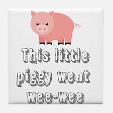Funny Wee-wee Pig Tile Coaster