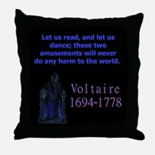 Let Us Read - Voltaire Throw Pillow