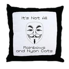 Anonymous Throw Pillow