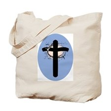 CROSS ON BLUE Tote Bag