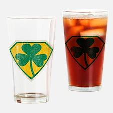 Irish Superhero Drinking Glass