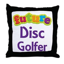 Future Disc Golfer Throw Pillow