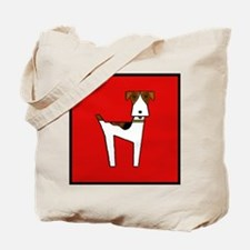 graphic terrier (red) Tote Bag