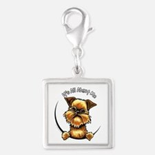 Brussels Griffon IAAM Silver Square Charm