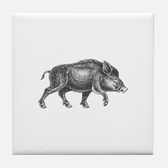 Wild Boar Tile Coaster