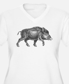 Wild Boar Plus Size T-Shirt