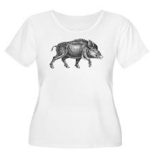 Wild Boar Plus Size T-Shirt