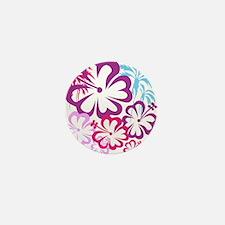 Summer Beach Purple Pink Palm Trees and Flowers Mi