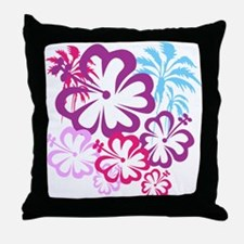 Summer Beach Purple Pink Palm Trees and Flowers Th