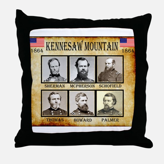 Kennesaw Mountain - Union Throw Pillow