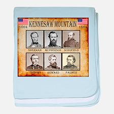 Kennesaw Mountain - Union baby blanket