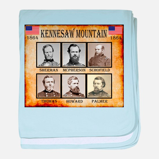 Kennesaw Mountain - Union baby blanket