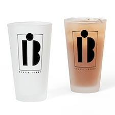 Black Ivory logo in black Drinking Glass