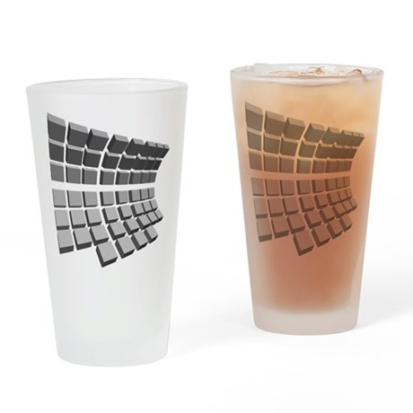 Block Design Drinking Glass