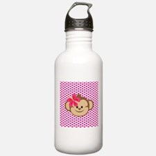 Girl Monkey Love Water Bottle