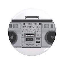 "Boom Box 3.5"" Button (100 pack)"