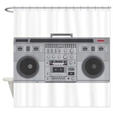 Boom Box Shower Curtain