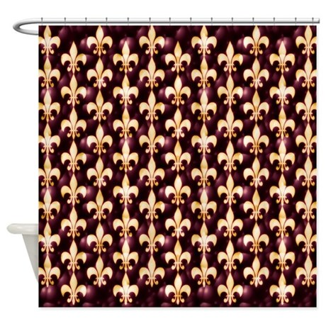Fleur De Lis With Glamour Glow Shower Curtain By Helena1023