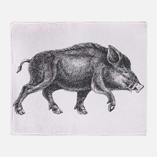 Wild Boar Throw Blanket