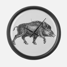Wild Boar Large Wall Clock