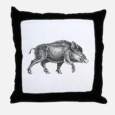 Wild Boar Throw Pillow