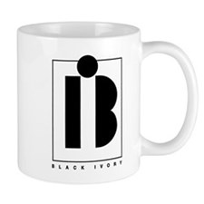 Black Ivory logo in black Mug
