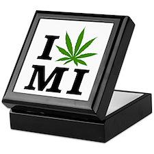I Love Cannabis Michigan Keepsake Box