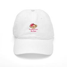 Big Sister to Be Pink Monkey Baseball Baseball Cap