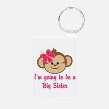 Big Sister to Be Pink Monkey Keychains
