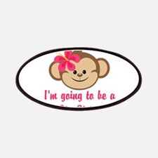 Big Sister to Be Pink Monkey Patches